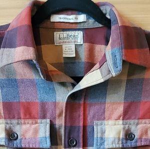L.L.Bean Chamois Plaid Traditional Fit Shirt SZ S